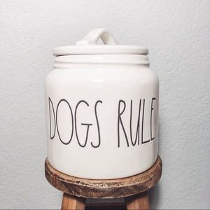 **SOLD** Rae Dunn Dogs Rule Canister